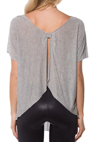Bow Back Grey Top 2.0