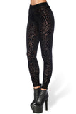 Burned Velvet Damask Leggings