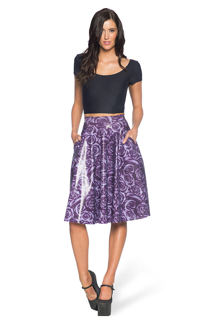 Imperial Rose Pocket Midi Skirt