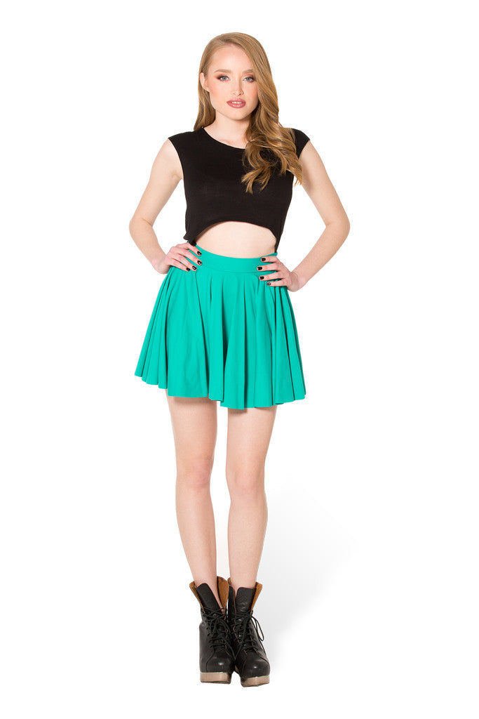Matte Jade Cheerleader Skirt