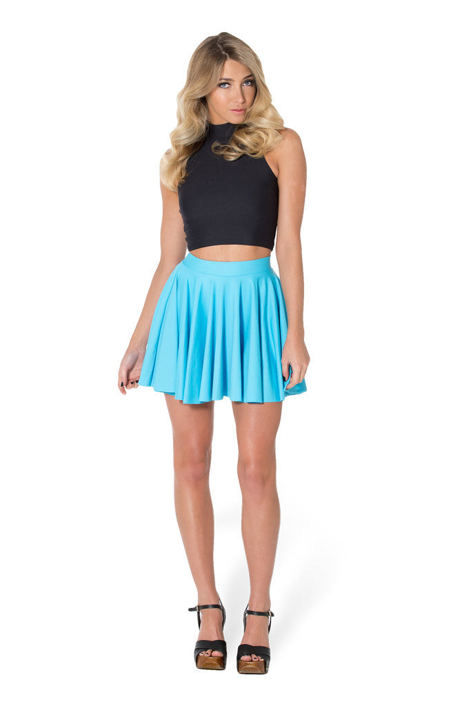 Matte Light Blue Cheerleader Skirt