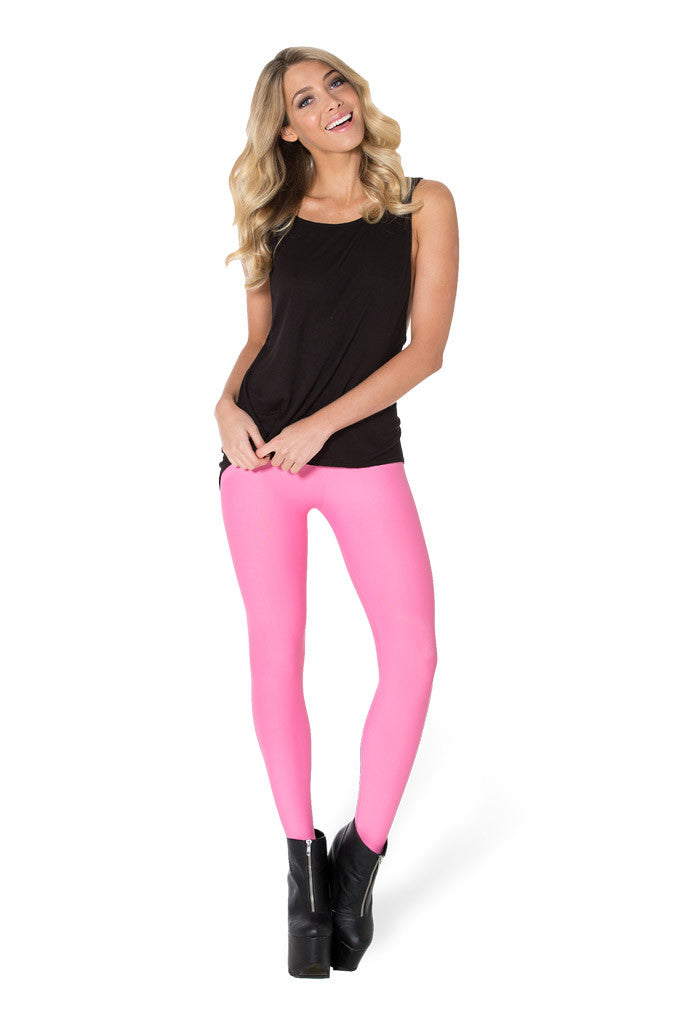 Matte Pink Stirrup Leggings