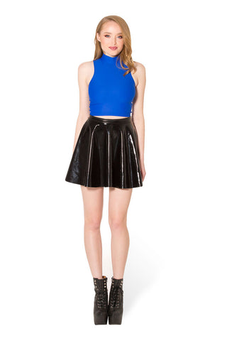 Matte Royal Blue High Neck Crop
