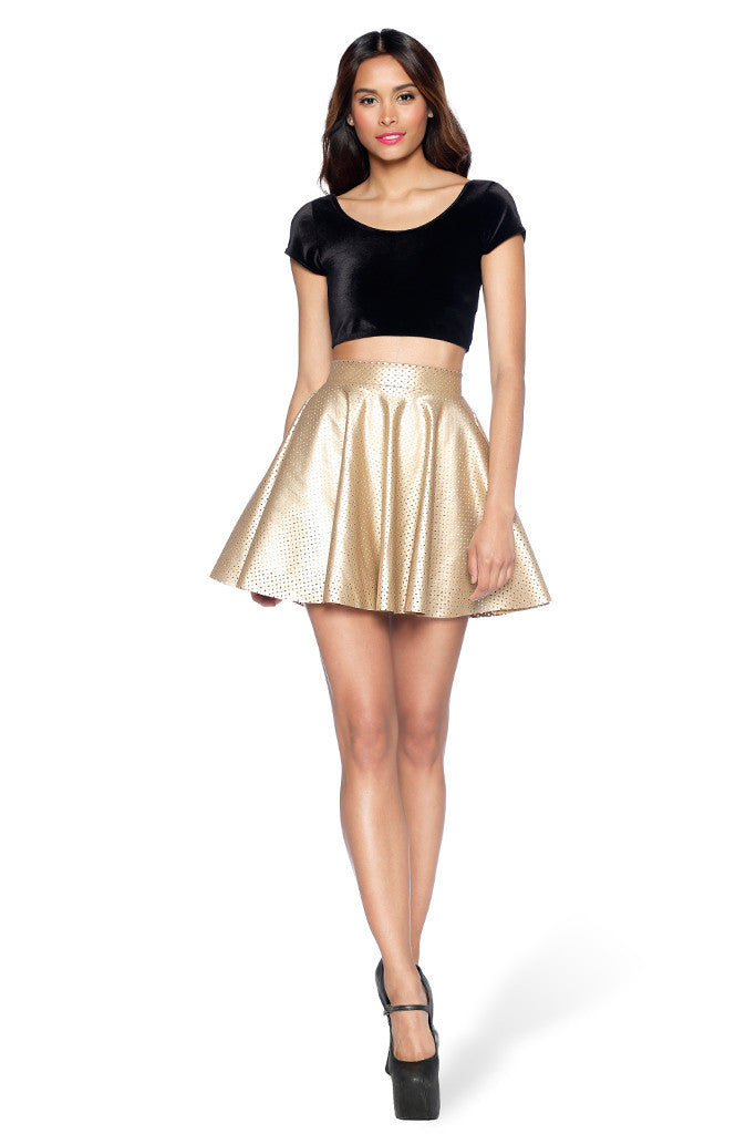 Royalty Gold Cheerleader Skirt