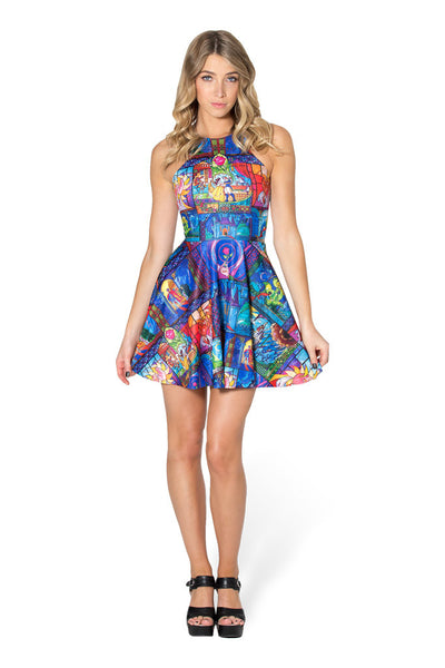 Tale As Old As Time Reversible Skater Dress