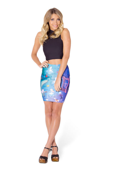 Down The Rabbit Hole Pencil Skirt - LIMITED