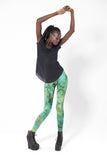 Fairy Paint Green Leggings