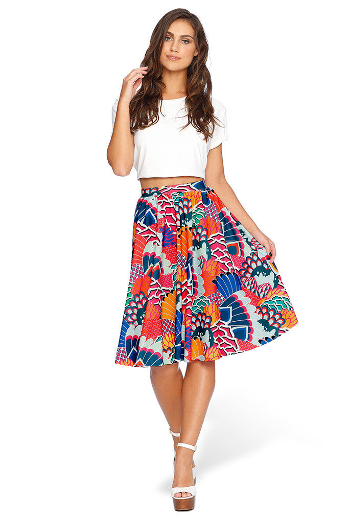 Fenikkusu Pocket Midi Skirt