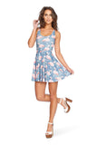 Flamingo Flock Reversible Skater Dress