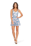 Flamingo Flock Scoop Skater Dress