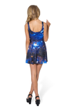 Galaxy Blue Scoop Skater Dress