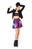 Galaxy Purple Skater Skirt