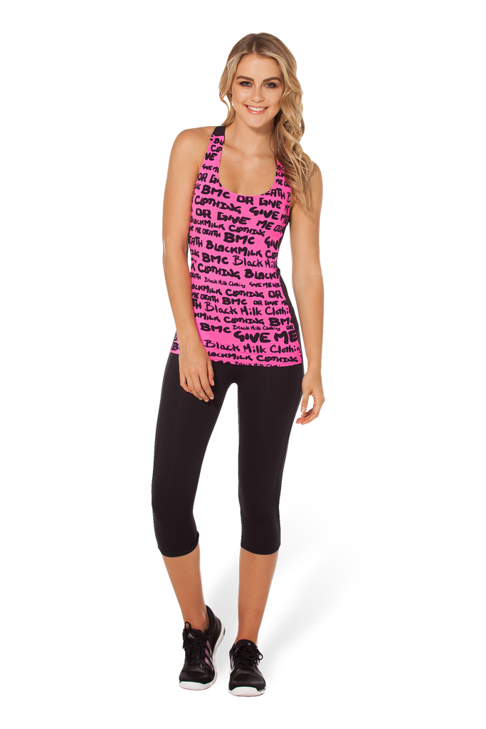 Highlighter Pink Battle Top