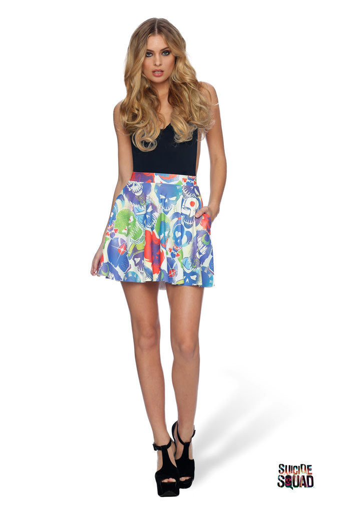Suicide Squad Pocket Skater Skirt - LIMITED