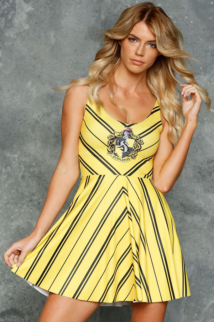 Hufflepuff Scoop Skater Dress - LIMITED