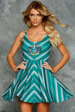 Slytherin Scoop Skater Dress