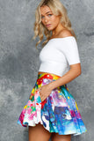 Meow Pocket Skater Skirt