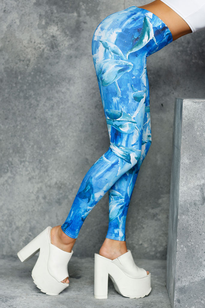 Whales MF Leggings - LIMITED