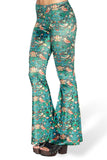 Strawberry Thief Velvet Bell Bottoms - LIMITED