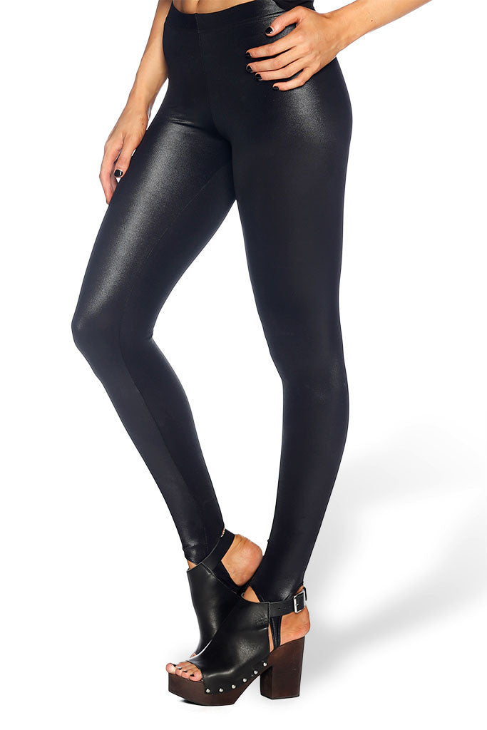 Wet Look Stirrup Leggings