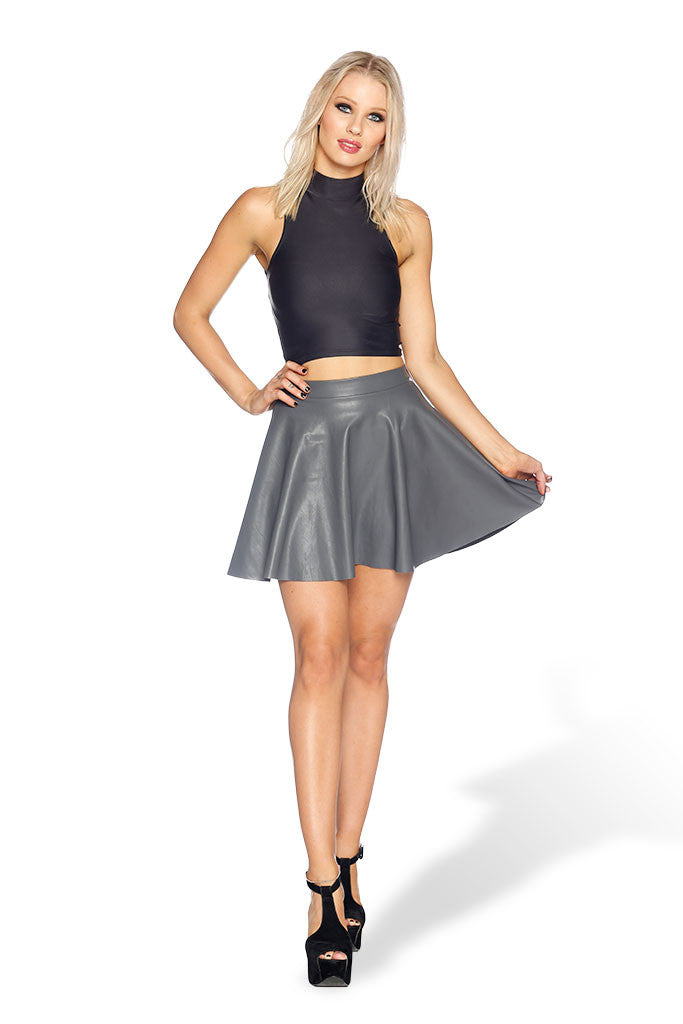 Route 66 Grey Skater Skirt
