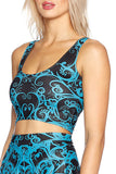 Teal Bath Reversible Crop