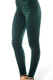 Embossed Velvet Reptilian Leggings