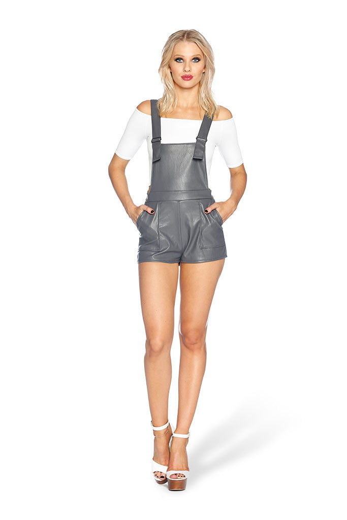 Route 66 Grey Short Overalls