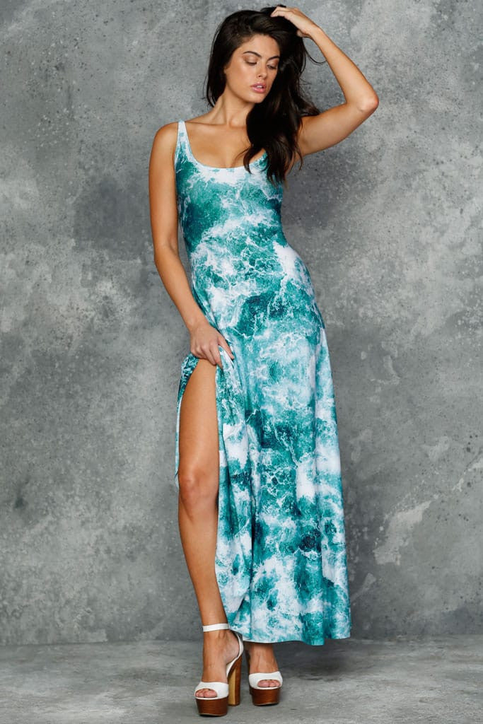 Troubled Waters Maxi Dress