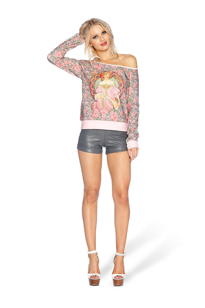 Pink Moon Off the Shoulder Sweater