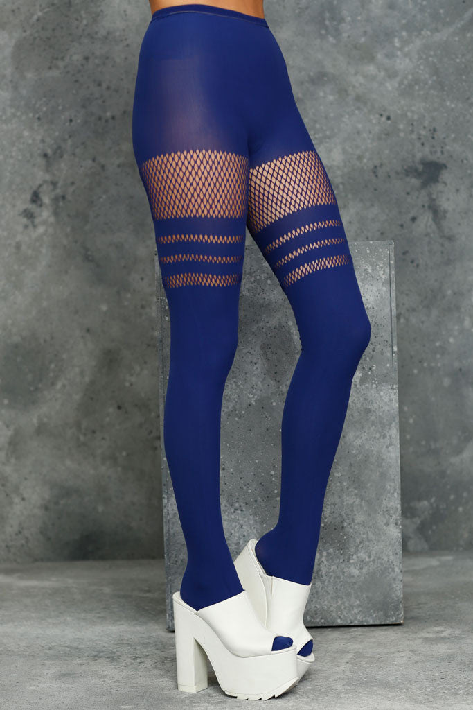 Sporty Stripes Indigo Hosiery