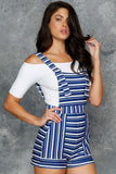 Breton Stripes Short Overalls