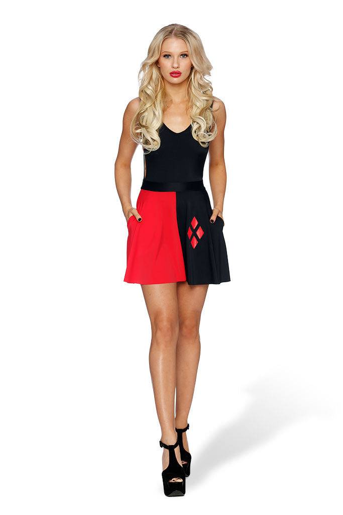 Harley Quinn Pocket Skater Skirt - LIMITED