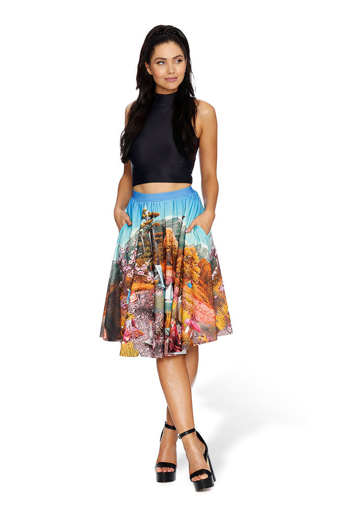 Hide and Seek Pocket Midi Skirt