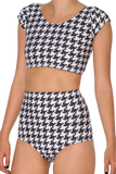 Houndstooth Nana Suit Top