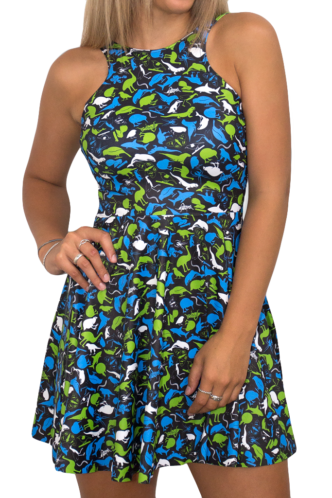 NZ Road Kill Reversible Skater Dress