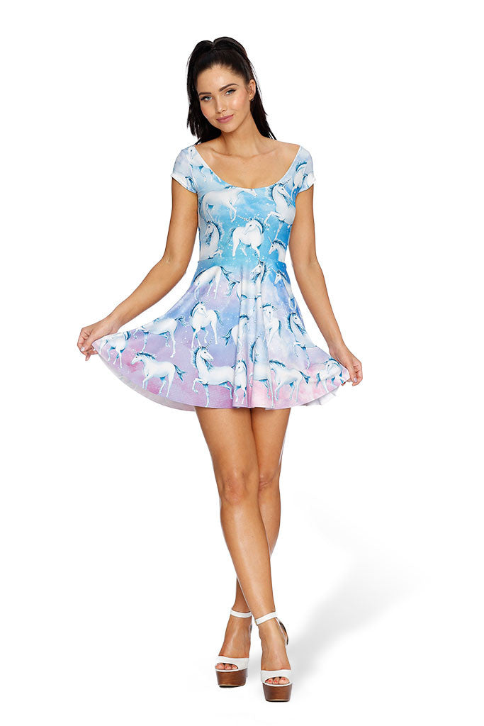 In Your Dreams Cap Sleeve Skater Dress