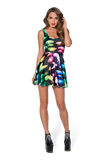 Jellyfish Rainbow Scoop Skater Dress