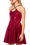 Juicy Fruit Wine Reversible Straps Dress