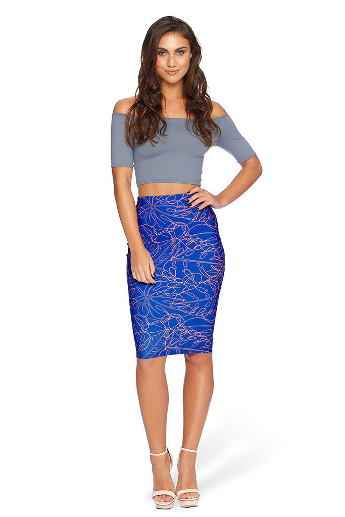 Jungle Beat Midi Pencil Skirt - LIMITED