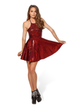 Shattered Ruby Reversible Straps Dress