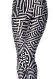 Maze Black Leggings