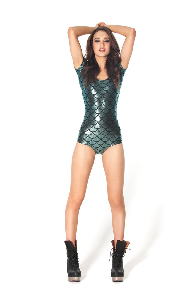 Mermaid Cap Sleeve Bodysuit