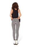 Triangle Black and White Leggings