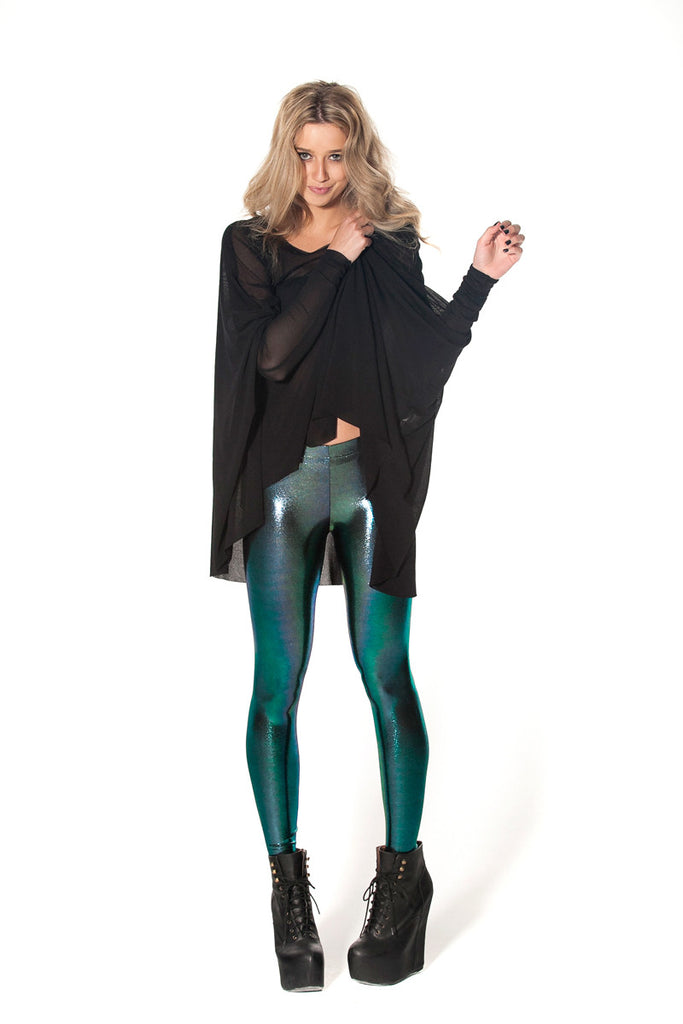 Oil Slicks Green Leggings