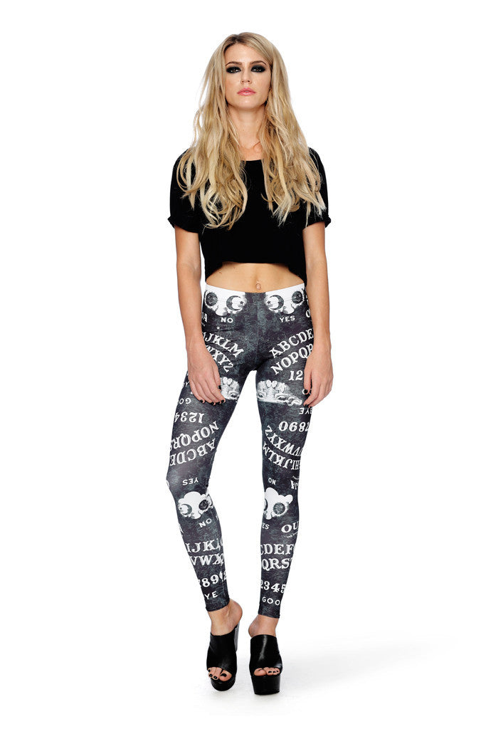 Ouija Board Black MF Leggings