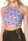 Fresh Prints Rave Reversible Crop