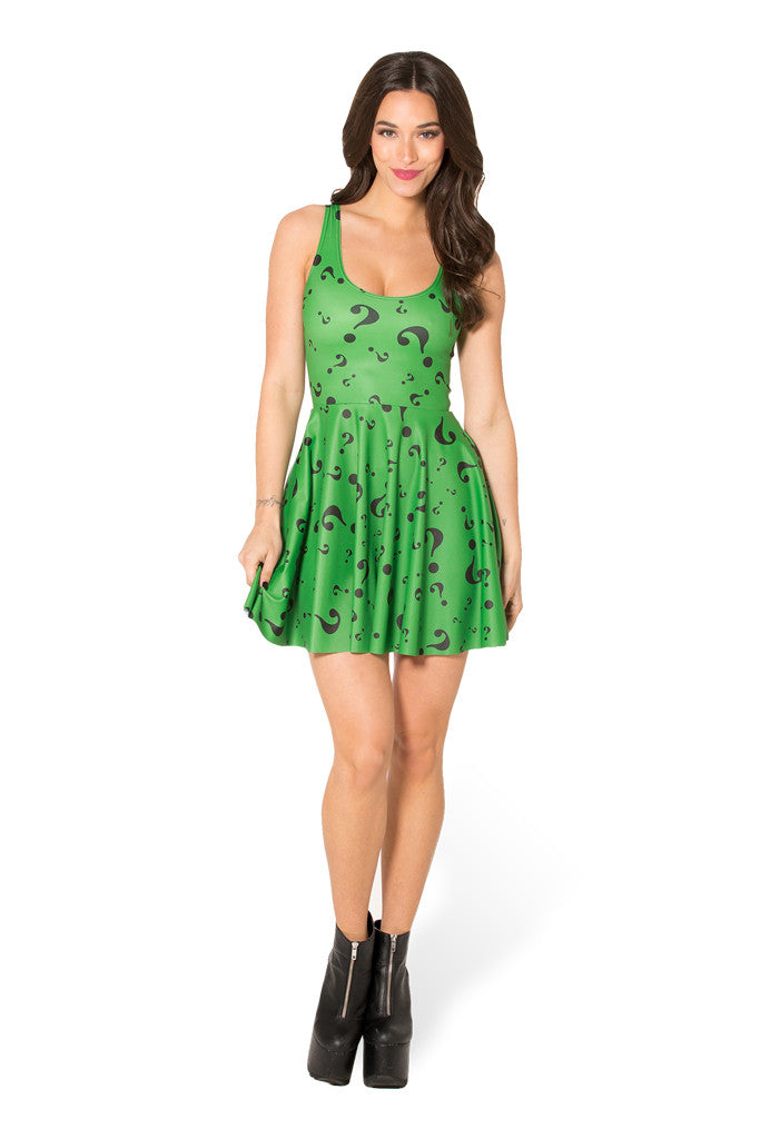 The Riddler Scoop Skater Dress - LIMITED