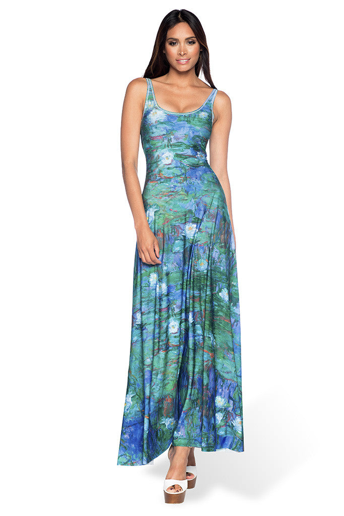 Blue Water Lilies Maxi Dress - LIMITED