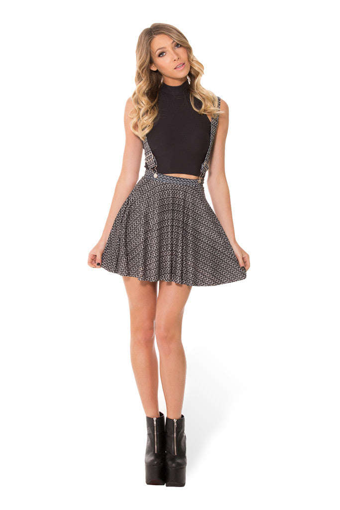 Chainmail Pinafore Pocket Skater Skirt